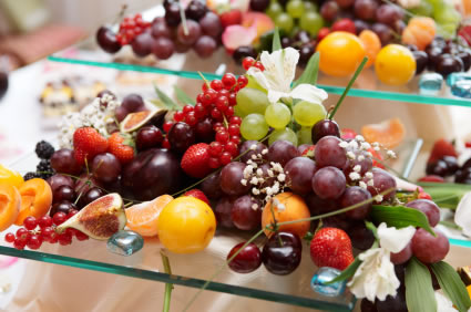 Selection of fruits for the buffet
