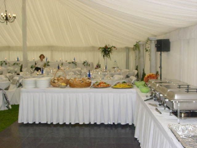 Marquee wedding buffet